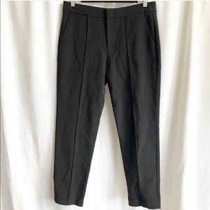 Vince pintuck cropped black trousers